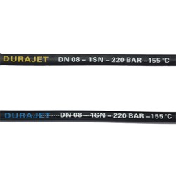 HP hose DURAJET - DN 6*1 Black Smooth Cover